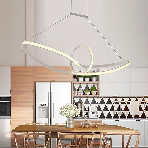 Hireomi ® 48W LED Pendelleuchte Esstisch Hängelampe Pendellampe ...