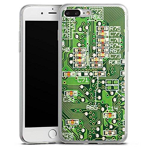 Apple iPhone X Slim Case Silikon Hülle Schutzhülle Platine Computer Muster Silikon Slim Case transparent