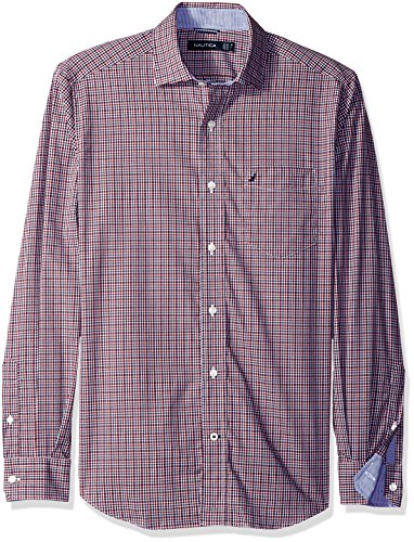 nautica-mens-mens-sleeves-shirt-in-size-s-red