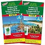 Sardinien Nord und Süd, Autokarten-Set 1:150.000, Top 10 Tips, freytag & berndt Auto + Freizeitkarten: Set wegenkaarten 1:150 000