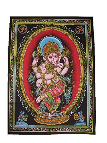 Wandtuch Tanzender Ganesha 110 x 75 cm Indien
