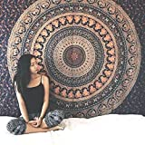 Indische handgefertigte Hippie Boho böhmischen Gypsy Home Decor Mandala Wandbehang Tapisserie Strandtuch einzelne Tagesdecke Twin Gobelin Stranddecke indische Bettwäsche Yoga-Matte