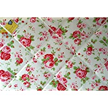 Grande 60x 40cm Cath Kidston/IKEA blanco Rosali Rose hecha a mano tela aviso/Pin/Memo/módulo de junta