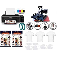 MY PRINT Metal Heat Press 5 in 1 Multi Functional Machine with Sublimation Printer Epson L130 with Sublimation Ink