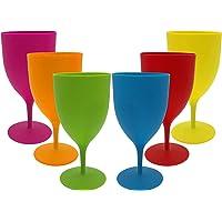 GJCrafts Gobelets En Plastique Couleur Unie Mate Vin Rouge Champagne Gin Verre Cocktail, Gobelet Simple Givré Cadeau…