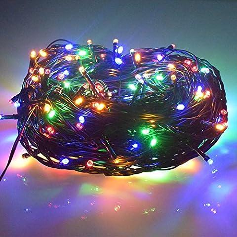 AE Innen-/Außen Weihnachtensbeleuchtung IP44 33m LED Lampe Mehrfarbig Kette Garten Party Hochzeit Deko Leuchte mit 24V EU Stecker C117