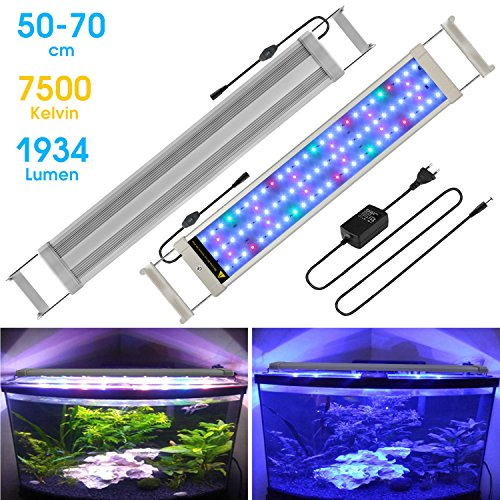 BELLALICHT Aquarium LED Beleuchtung Aquariumbeleuchtung Weiß Blau Rot Grün