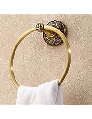 Toalla de baño toalla de baño de cobre colgante europea toalla de toalla