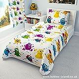 Bettwäschegarnitur für Kinderbett von Ikea, vertrieben durch Babies Island, Deckenbezug und Kissenbezug, 110 x 125, Motiv: Monster