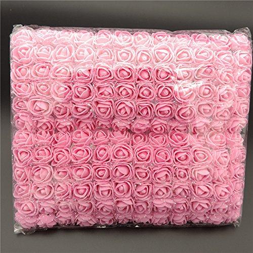 Gakoz 144 Stück/Pack Mini Schaum künstliche Rose Blume Bouquet Hochzeit Dekor Bastelbedarf