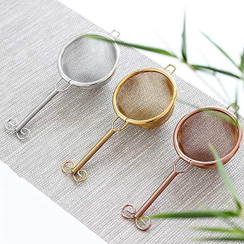 GBCJ Teeservice Kreatives doppeltes Metalltee-Durchsickerntee-Filtertee-Filternetz japanische Art handgemachtes Teetrichter kungfu Teezubehör