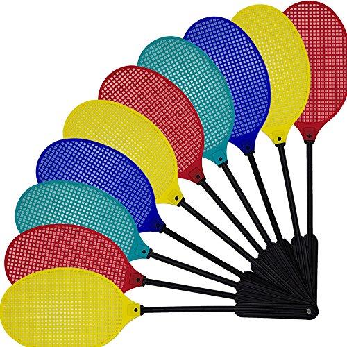 proheim Fliegenklatschen 10er Pack Fliegenfänger aus hochflexiblem und langlebigem Kunststoff 40 cm lang Mückenklatsche mit großer Fläche von 16 x 11 cm