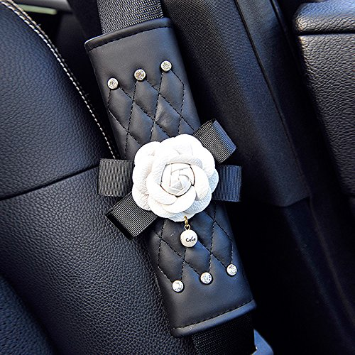 inebiz-beautiful-camellia-leather-car-seat-belt-cover-pads-harness-repositions-strap-adjuster-1-pair