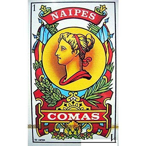 Maestros Naiperos - Naipe Español Comas 50 cartas, color azul y rojo