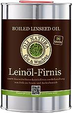 OLI-NATURA Leinöl-Firnis, biologischer Holzschutz, 1 Liter, farblos - natur