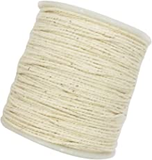 MagiDeal 100 Meters All-Purpose Cotton Rope Braided Twisted Cord Handmade Decoration 1mm