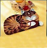 Vervaco Knüpfteppich Motiv Katze