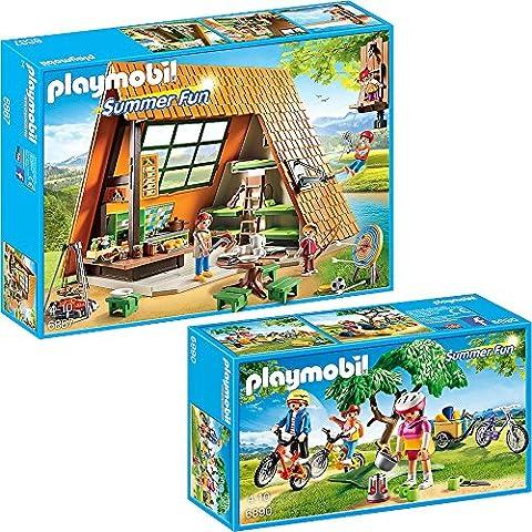 Playmobil Summer Fun 2pcs. set 6887 6890 Big Holiday Camp + Mountain Bike Tour