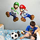 VAINECHAY Muursticker kinderkamer meisjes muursticker babydecoratie woonkamer Super Mario JBW9139