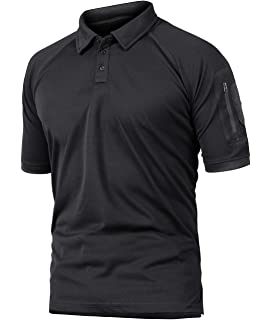 TACVASEN Mens Long Sleeve Polo Shirt Pullover Work Sports Tennis Tee Shirts Tops