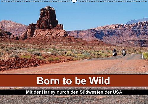 Preisvergleich Produktbild Born to be Wild - Mit der Harley durch den Südwesten der USA (Wandkalender 2017 DIN A2 quer): Die landschaftlichen Highlights des amerikanischen ... 14 Seiten ) (CALVENDO Mobilitaet)