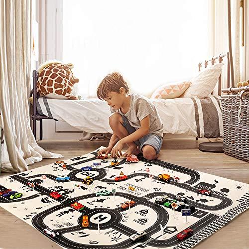 Bescita Kinder Spielmatte, Faltbarer Truck Kindermatte Bunt Teppichmatte Kinder Puzzlematte Spielmatte