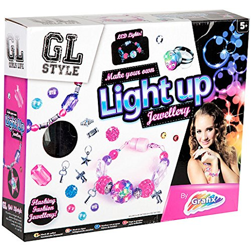 Make Your Own Jewellery Light Up Bracelets Making Kit Beads Charms GL Style (Kit Bead Making)