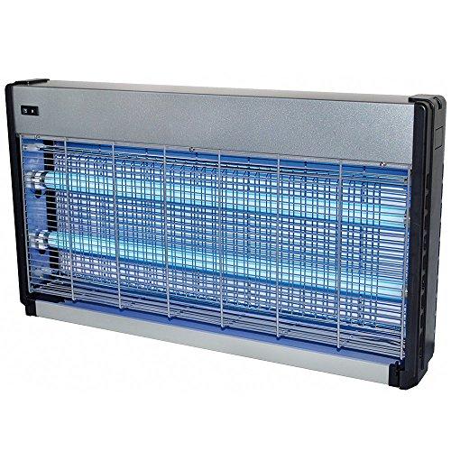 Lichtfalle 4000 Volt 2 x 20 Watt extra stark für 200 m² elektrischer Insektenvernichter Insektenfalle mit UV-Licht zuverlässige Insektenabwehr Mückenfalle