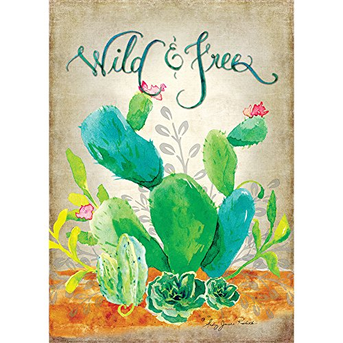Custom Decor, Inc. Wild & Free-Garten Größe, 30,5x 45,7cm, Dekorativen Doppelseitig Lizenzprodukt, urheberrechtlich geschützten und urheberrechtlich geschützt Flagge Bedruckt in Den USA
