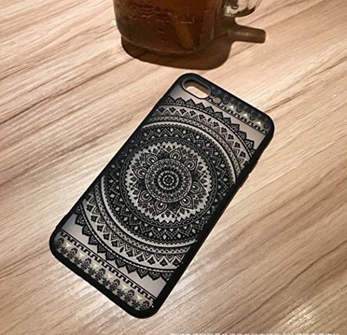 Coque iPhone 7,Manyip Coque Protection complète en cerclage à 360 °,La nouvelle main glissante Coque pour iPhone 7,Modèle creux LD03