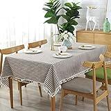 meioro Gestreifte Tischläufer Fringe Tischläufer Einfache und Elegante Heimtextilien für Den Innen- und Außenbereich