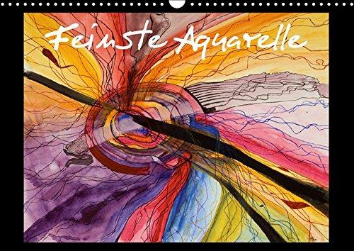 Feinste Aquarelle (Wandkalender 2018 DIN A3 quer): Aquarellmalerei von Ricarda Dämmrich...