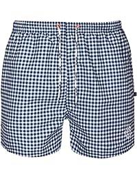 bugatti® - modern gemusterte Herren Badeshort in marineblau, schwarz/grau, türkis oder rot