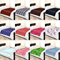 Soft and Warm Single 120x150cm Printed Fleece Throw for Sofa Bed Travel Car Blanket - inexpensive UK light shop.