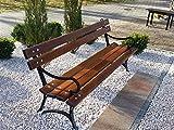 Neue Holz Garten Royal Bench mit Armlehne Erle massiv Konstruktion: Gusseisen und Boards 31kg