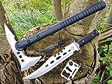 *4er Canada-Set* Tomahawk tactical M48-S Beil / Camping / Axe / Wurfaxt + Ranger Survival Jagd-Messer + Beimesser + Survival-Card