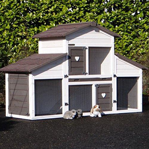 Animalhouseshop.de Kaninchenstall Annemieke mit Auslauf 175x70x110cm