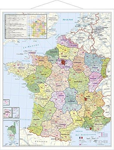 Frankreich Postleitzahlenkarte