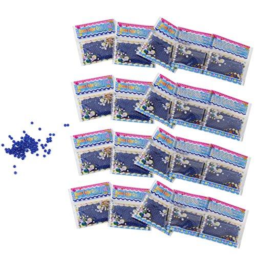 20 Pochettes de Billes Perles de l'Eau Boue de Sol pour la Plantation de Fleurs (Bleu)