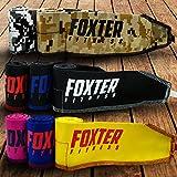 Foxter fitness fasce da polso di qualità premium per pesi crossfit/powerlifting, cinghie di supporto per uomini e donne., Yellow/Red