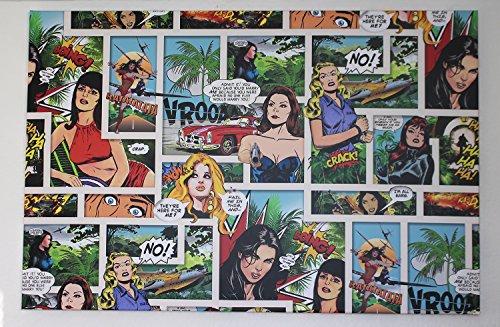 Kunstdruck Comic Art Kameha Arts auf Leinwand Einzelstück Multicolor 80 x (Kostüme Wonderwomen)