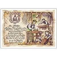 Geschenk Tischler Schreiner Tischlerei Zeichnung Color 30 x 21 cm