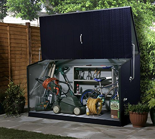 Trimetals Gerätebox, Aufbewahrungsbox, Multifunktionsbox, Fahrradbox Storeguard Anthrazit;...