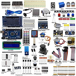IDEA HIGH DIY Electric Unit Ultimate Starter Kit for Arduino MEGA 2560 1602 LCD Servo Motor LED Relay RTC Electronic kit