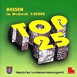Rasterdaten der amtlichen Topographischen Karten von Hessen auf CD-ROM. Flächendeckende blattschnittfreie Kartendarstellung mit Ortnamenverzeichnis / TOP 25 Hessen (Nord und Süd)
