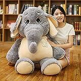 VERCART Tier Kuscheltier Stofftier Plüschtiere Plüsch Kinderspielzeug Elefant Grau 98cm