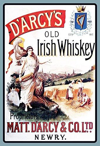 ComCard Darcys Old Irish Whiskey Schild aus Blech Tin Sign
