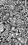 Carnet de Mots de Passe: A5 - 98 Pages - 110 - Doodles - Miel - Abeilles - Noir et Blanc