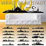 Wandora W1365 Wandtattoo Skyline Istanbul I 140 x 30 cm schwarz I Städte der Welt Stadt selbstklebend Aufkleber Wandaufkleber Wandsticker