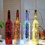 Luci per bottiglie di vino luci di stringa di LED creative luci decorative luci stelle lattine solari luci per festival di luci luci fluorescenti per lampadari scaldabagno in metallo placcato oro